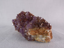 Natural South African Sparkling Amethyst Plate - 88mm, 143g
