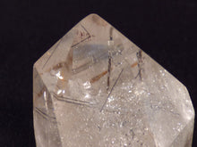 Clear Quartz with Rutile Polished Standing Point - 36mm, 44g