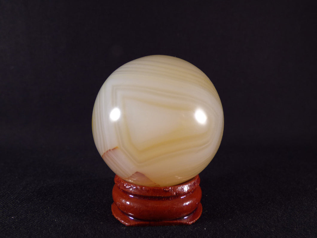 Small Madagascan Agate Sphere - 42mm, 100g