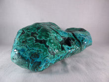 Large Polished Congo Chrysocolla and Malachite 'Malacolla' Display Freeform - 186mm, 1390g