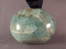 Madagascan Amazonite Freeform Palm Stone - 65mm, 200g