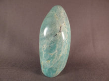 Small Madagascan Amazonite Standing Display Freeform - 85mm, 175g