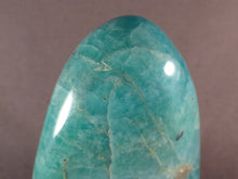 Madagascan Amazonite Standing Display Freeform - 90mm, 240g