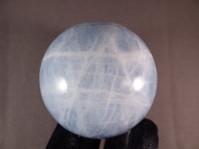 Large Blue Calcite Sphere - 84mm, 820g