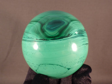 Solid Congo Malachite Sphere - 58mm, 388g