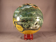XL Orbicular Ocean Jasper Sphere - 130mm, 2973g