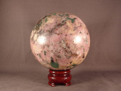 Large Polished Congo Salrose Cobaltoan Calcite & Heterogenite Sphere - 100mm, 1570g
