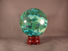 Large Congo Chrysocolla Sphere - 88mm, 877g