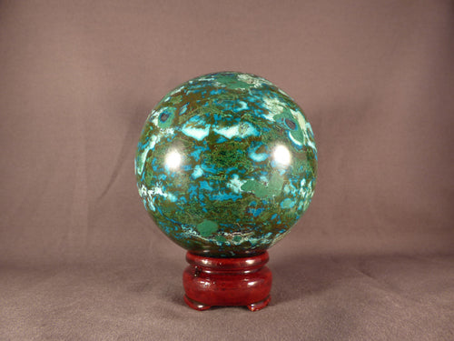 Large Congo Chrysocolla Sphere - 92mm, 1195g