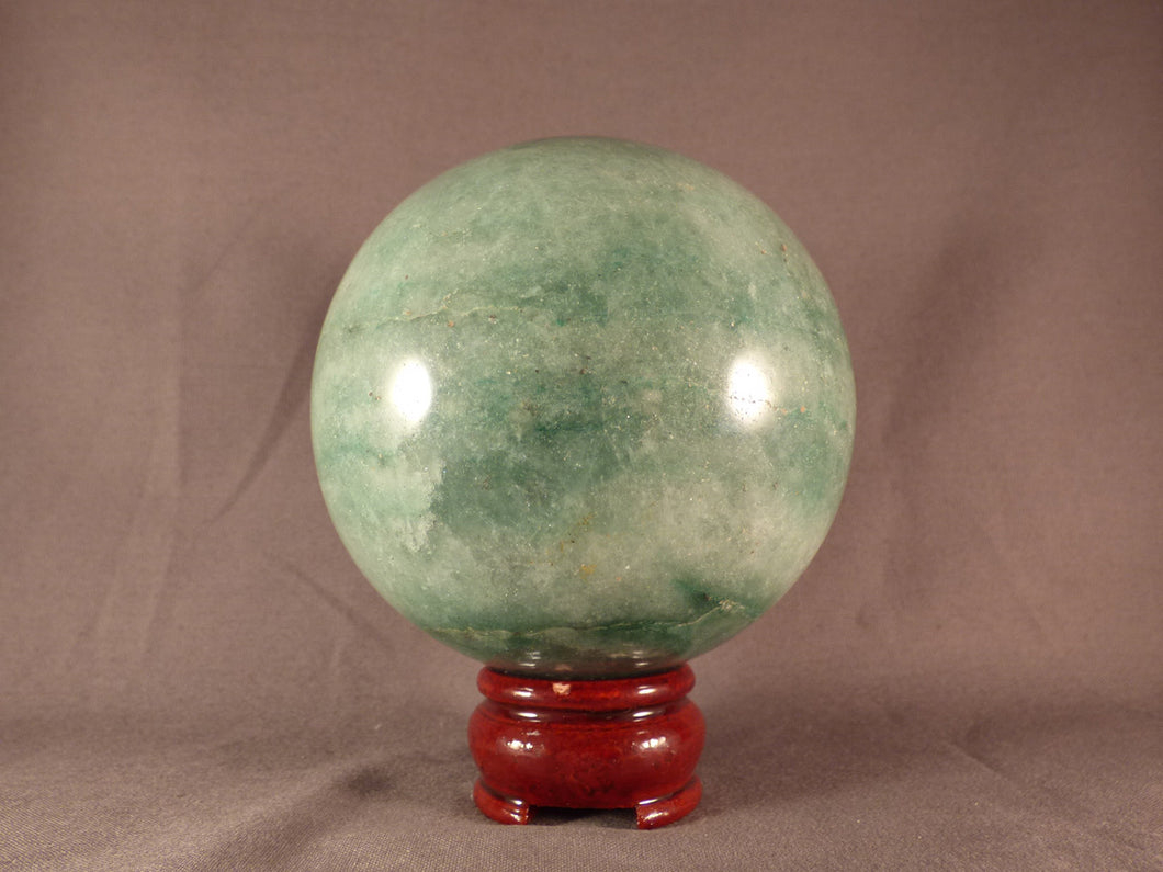 Large Green Fuchsite Sphere - 95mm, 1255g