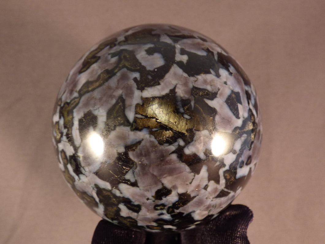 Madagascan Gabbro 'Merlinite' Sphere - 73mm, 600g