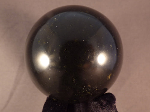Madagascan Black Basalt Sphere - 64mm, 435g