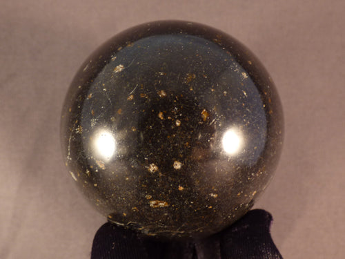 Madagascan Black Basalt Sphere - 63mm, 413g