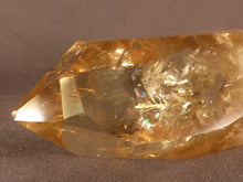 Zambian Rainbow Golden Citrine Polished Standing Crystal Point - 102mm, 237g