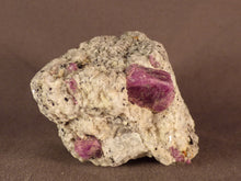 Madagascan Ruby in Quartzite Natural Specimen - 60mm, 148g