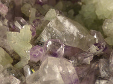Tafelkop Namibian Prehnite and Amethyst Natural Specimen - 105mm, 317g