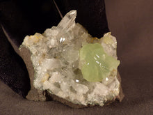 Tafelkop Namibian Quartz and Prehnite Natural Specimen - 60mm, 86g