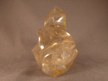 Madagascan Quartz Carved Flame Sculpture - 104mm, 600g