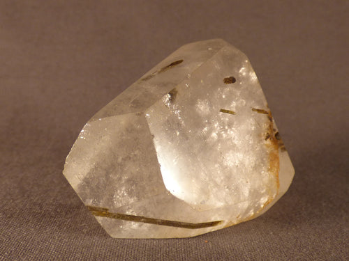 Polished Madagascan Tourmaline Quartz Angled Crystal - 47mm, 65g