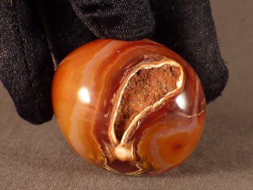 Madagascan Carnelian Freeform Palm Stone - 45mm, 76g
