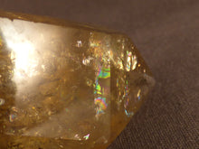 Polished Zambian Golden Rainbow Citrine Double Terminated Crystal - 64mm, 44g