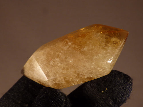 Polished Zambian Citrine Double Terminated Crystal Point - 53mm, 29g