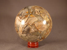 Rare Madagascan Brecciated Opalised Jasper Sphere - 95mm, 1200g