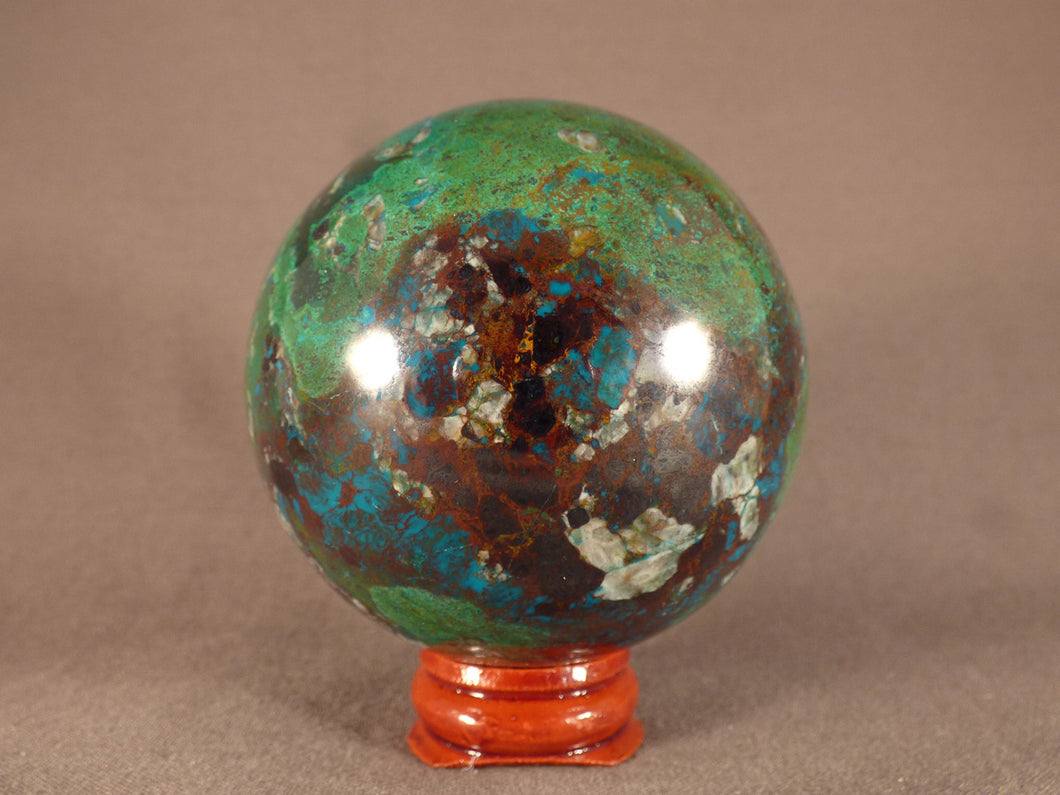 Rare Congolese Shattuckite Polished Sphere - 67mm, 435g