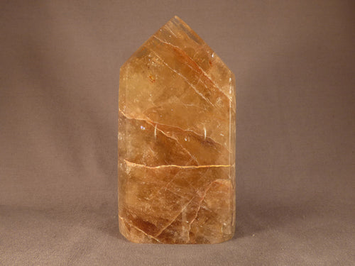 Polished Zambian Large Citrine Standing Crystal Point - 144mm, 674g