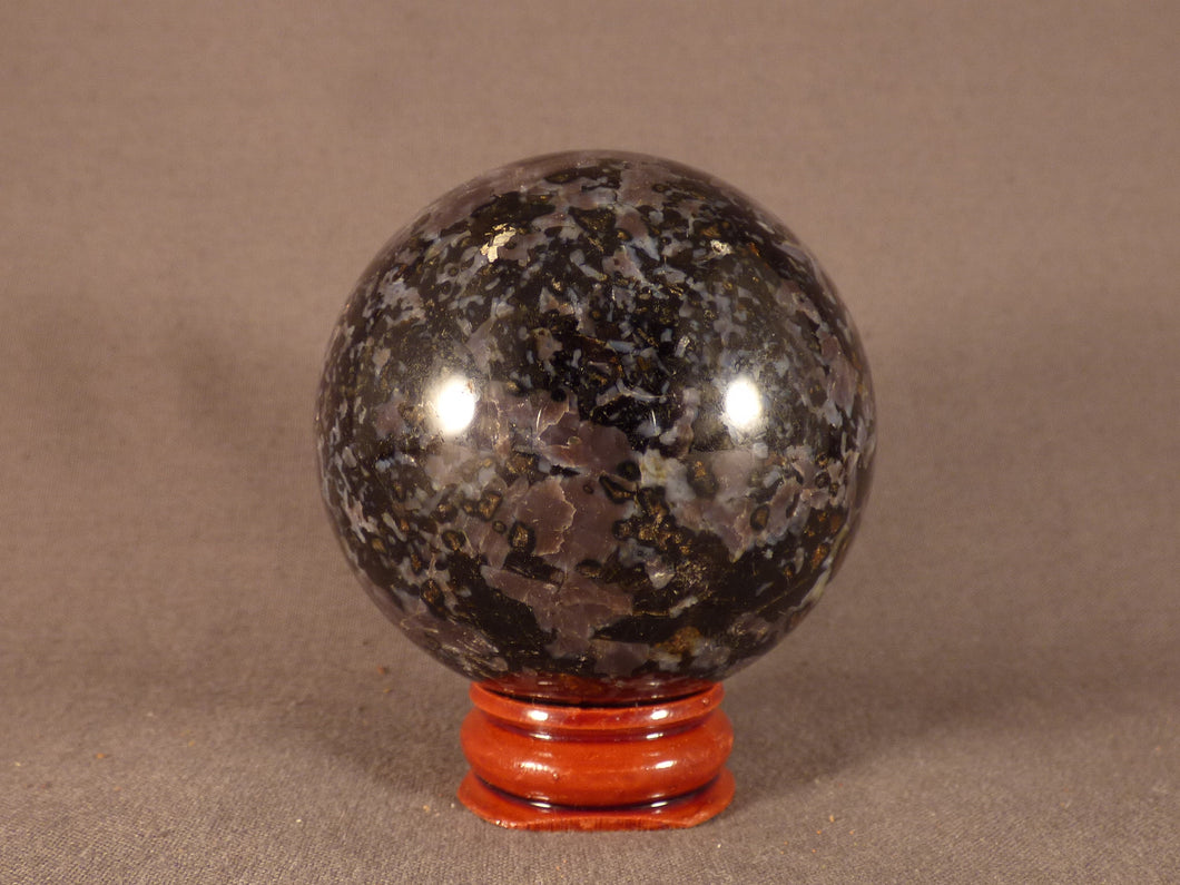 Madagascan Gabbro 'Merlinite' Sphere - 56mm, 270g
