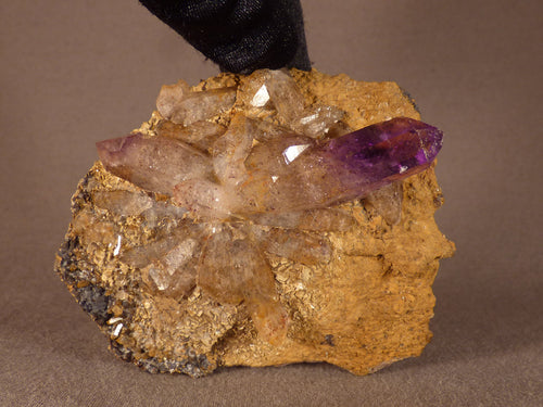 Brandberg Hematite Included Amethyst Cluster Natural Specimen - 72mm, 98g