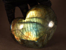 Polished Madagscan Labradorite Heart Carving - 116mm, 627g