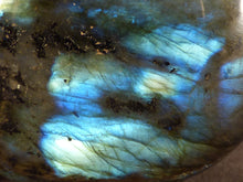 Polished Madagscan Labradorite Heart Carving - 120mm, 564g