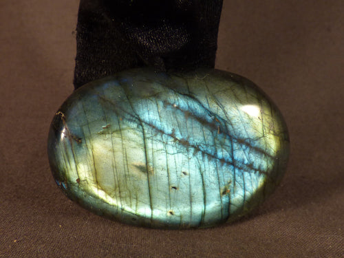 Madagascan Labradorite Freeform Palm Stone - 56mm, 65g