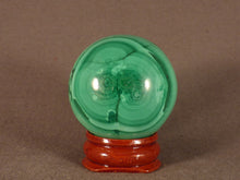 Polished Congo Malachite Sphere - 40mm, 120g