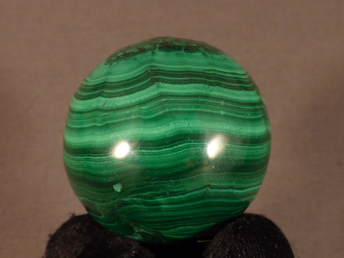 Polished Congo Malachite Sphere - 35mm, 85g