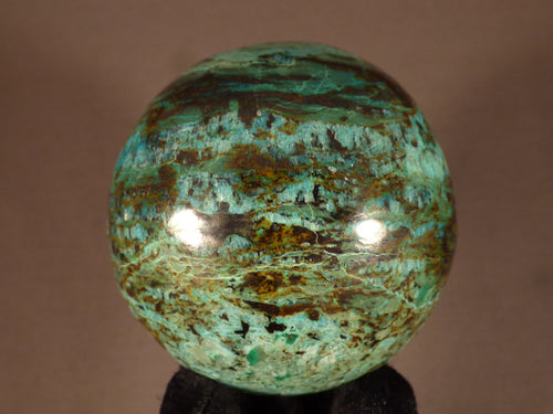 Polished Congo Chrysocolla Sphere - 68mm, 447g