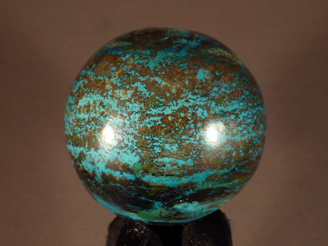 Polished Congo Chrysocolla Sphere - 60mm, 323g