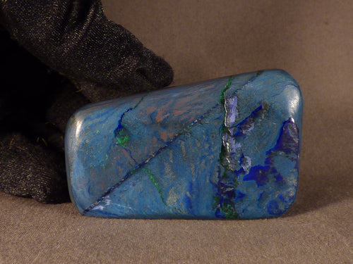 Polished Congo Azurite Freeform - 60mm, 112g