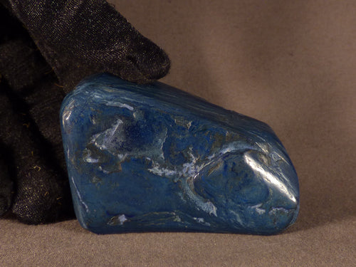 Polished Congo Azurite Freeform - 60mm, 105g