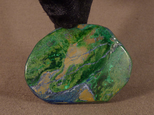 Polished Congo Azurite & Malachite Freeform - 60mm, 52g