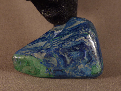 Polished Congo Azurite Freeform - 60mm, 52g