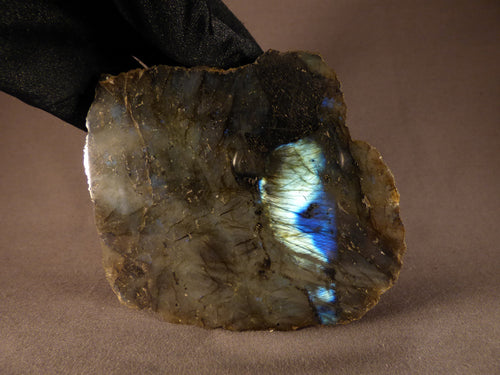 Madagascan Half Polished Labradorite Piece - 105mm, 513g
