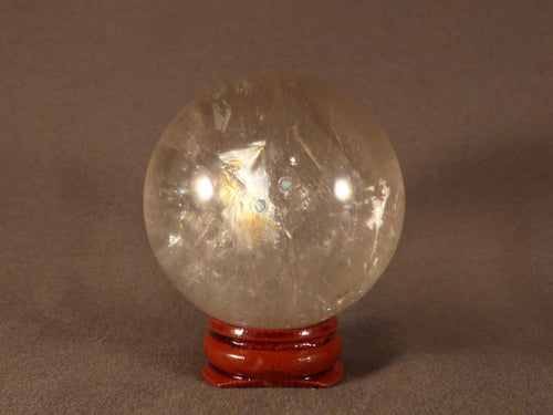 Madagascan Clear Rainbow Quartz Sphere - 48mm, 202g