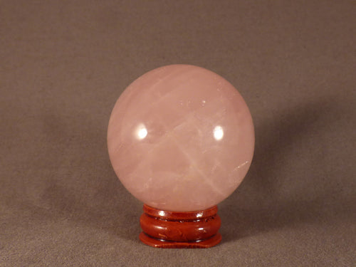 Madagascan Rose Quartz Sphere - 46mm, 187g