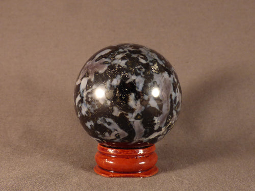 Madagascan Gabbro 'Merlinite' Sphere - 43mm, 181g