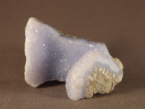 Natural Malawi Blue Lace Agate Geode - 85mm, 253g