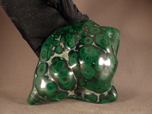 Polished Large Congo Bullseye Malachite Freeform - 121mm, 1068g
