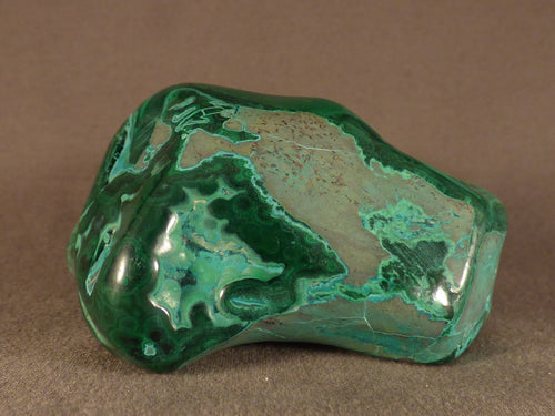 Polished Congo Malachite & Chrysocolla Freeform - 82mm, 346g