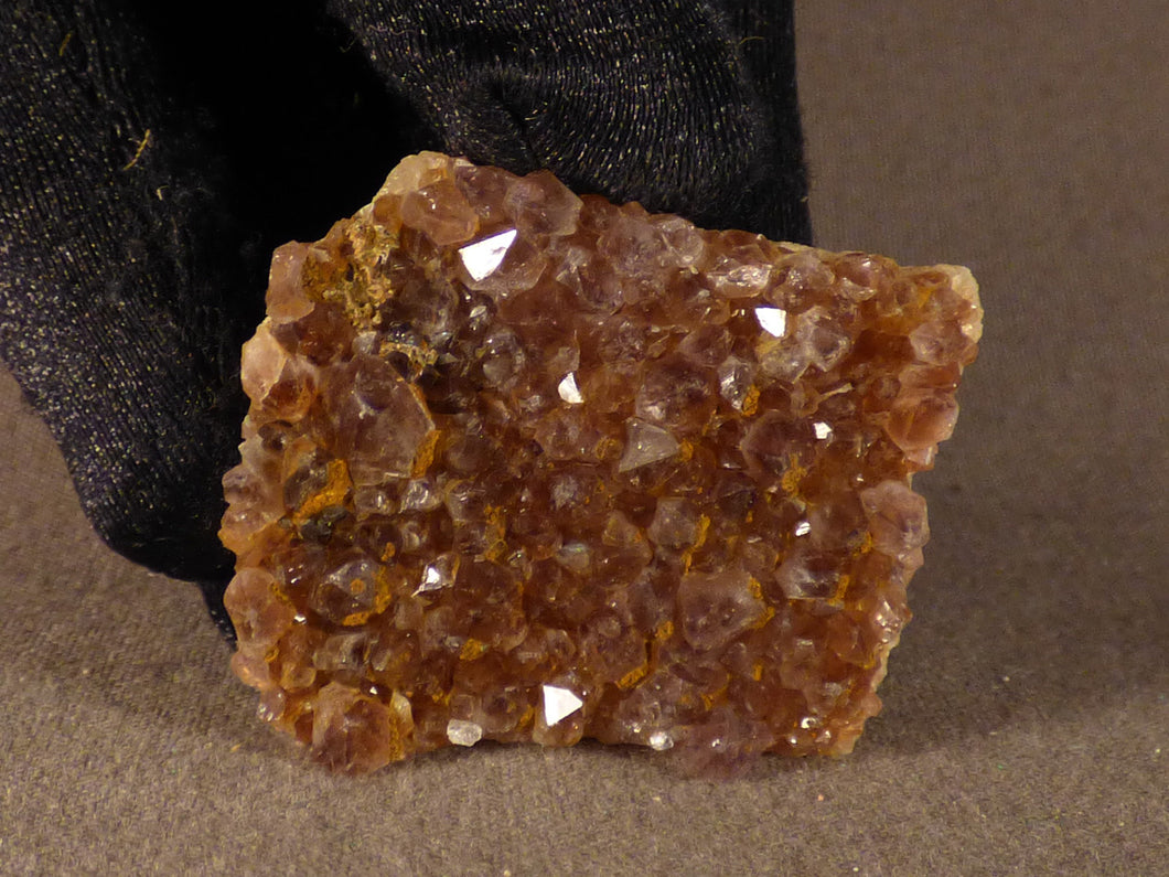 Natural Kwaggafontein Spirit Citrine Amethyst Crystal Plate - 34mm, 14g